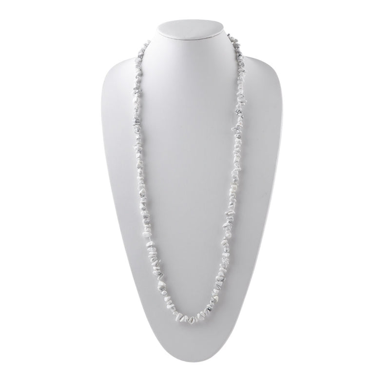 Yard Party Necklace-White Howlite