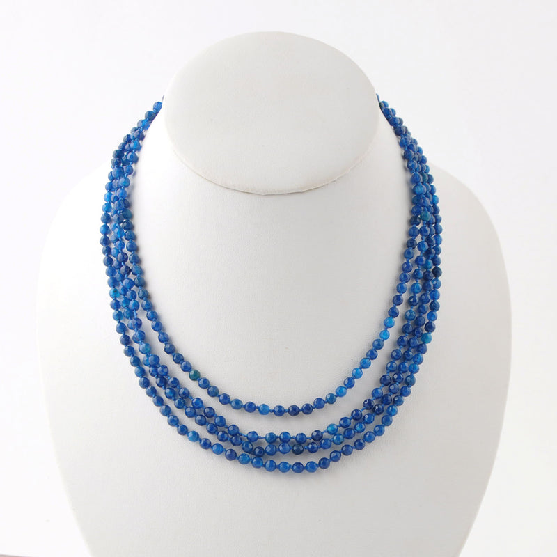 Blue Streak Agate Necklace