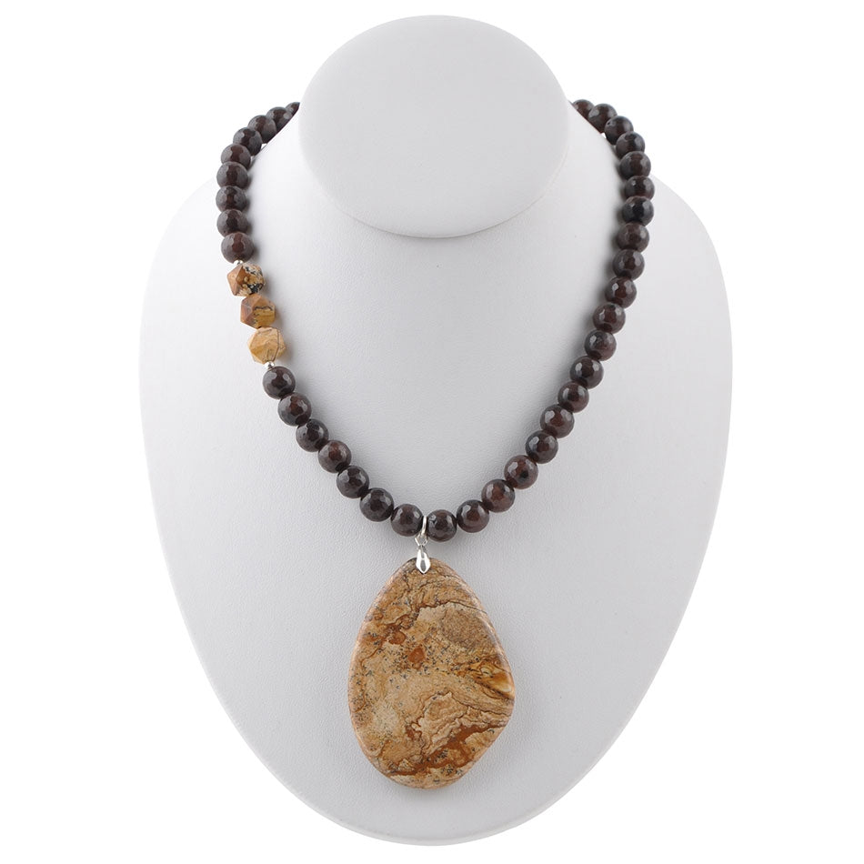 Natural Tendency Jasper Necklace