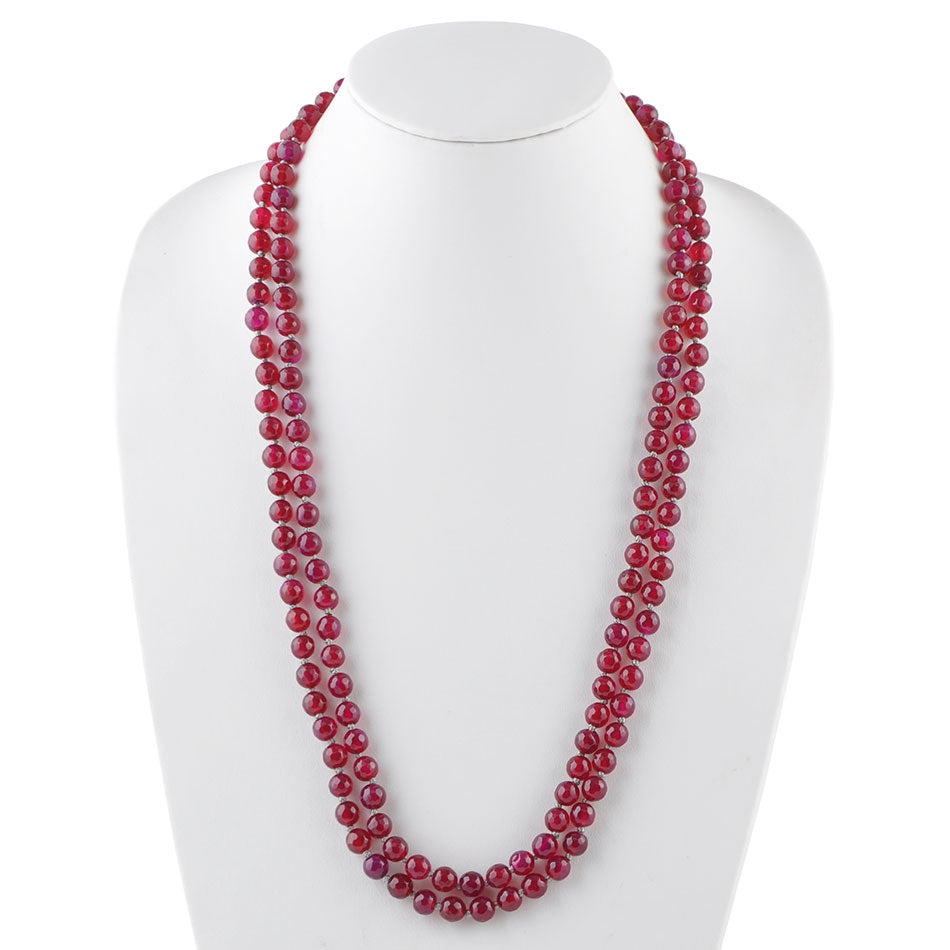 Immeasurable Stone Necklace-Raspberry Quartz