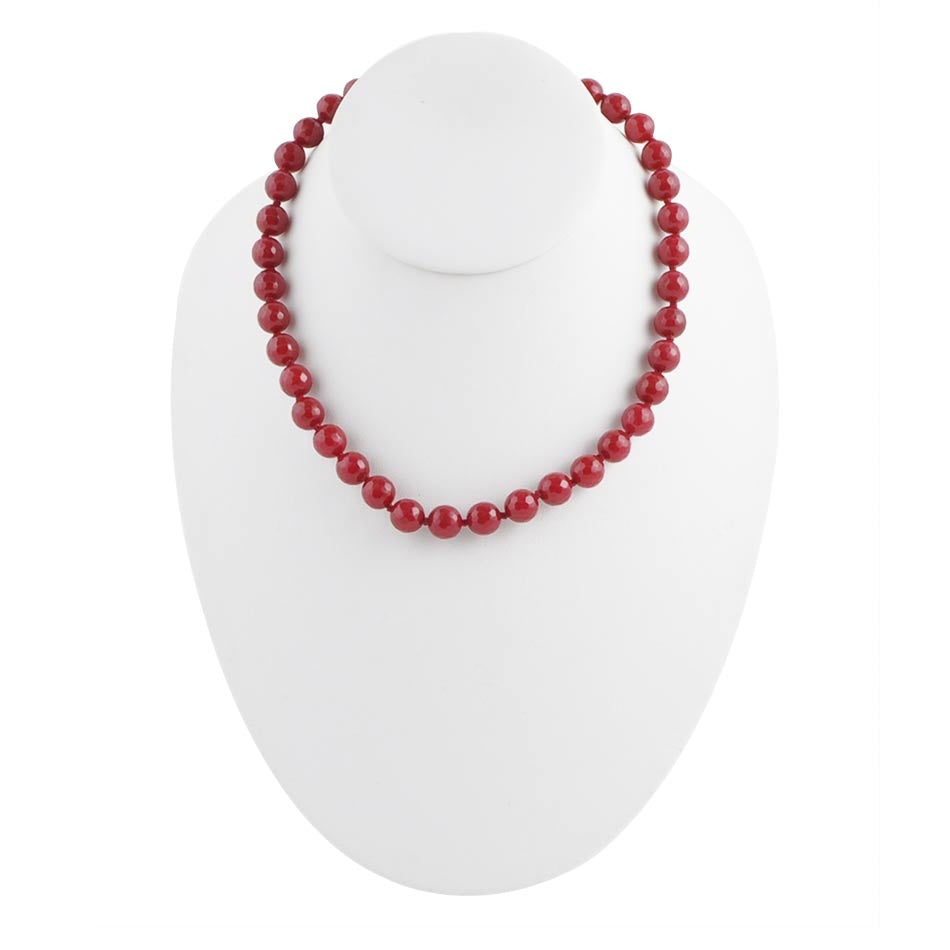 Simple Ruby Red Necklace