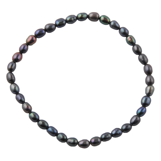 Black Pearl Stretch Bracelet
