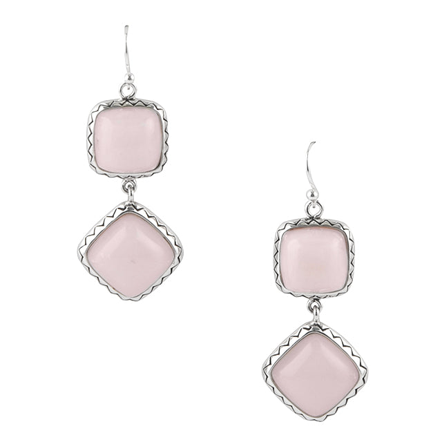 Drop Dead Gorgeous Pink Opal Earring