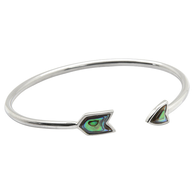 Abalone and Silver Cuff Bracelet