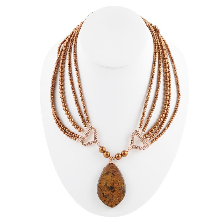 Copper Cinco Statement Necklace