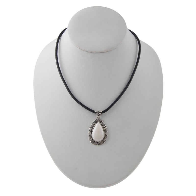 Luna Sol Silver and Pearl Necklace