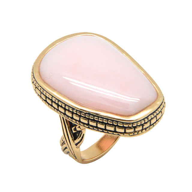 Asymmetry Ring-Pink Opal