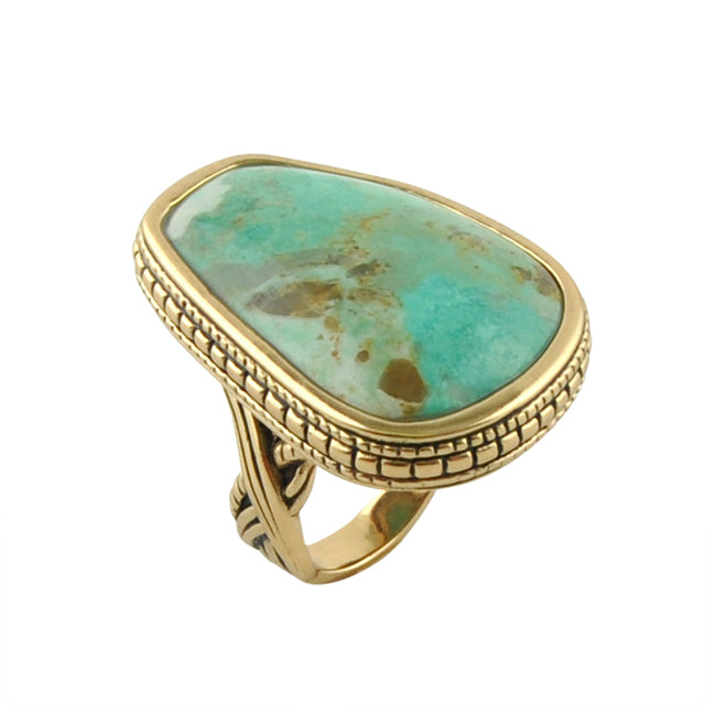 Asymmetry Ring-Turquoise