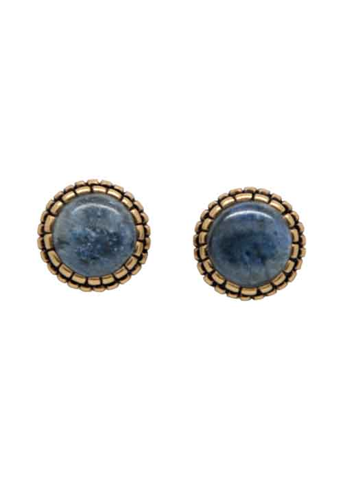 Perfect Post Earring- Dumortierite
