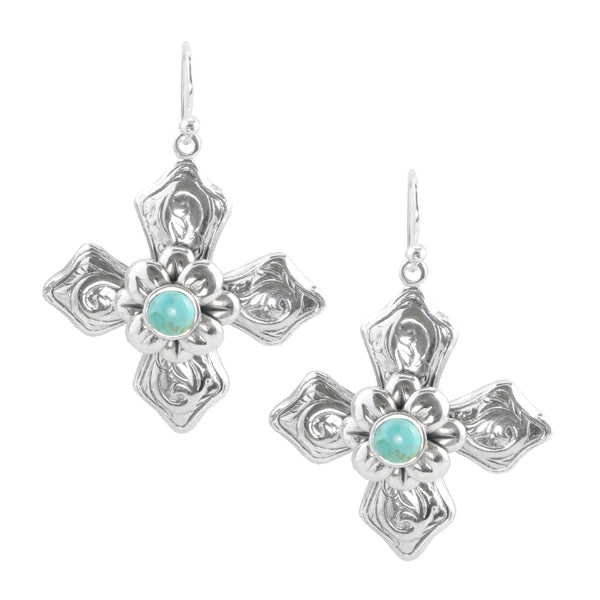 Celtic Cross Earring with Turquoise
