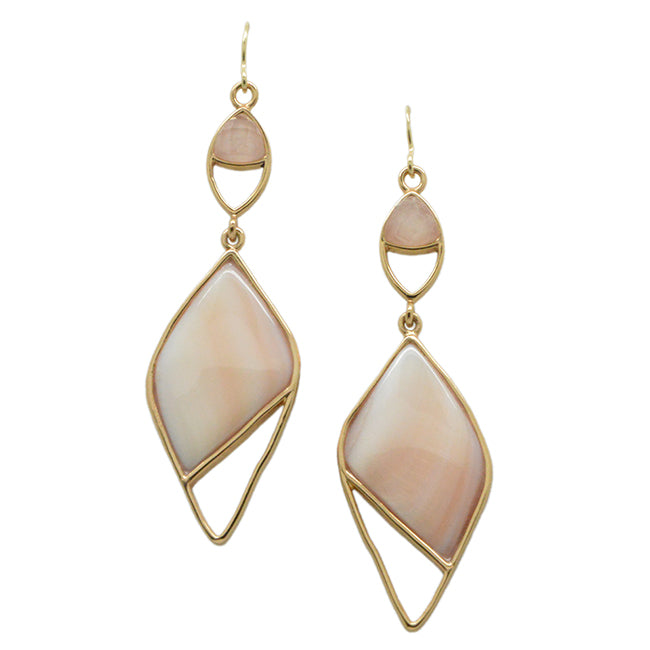 Pura Vida Stone Earring- Pink Opal and Rose Quartz