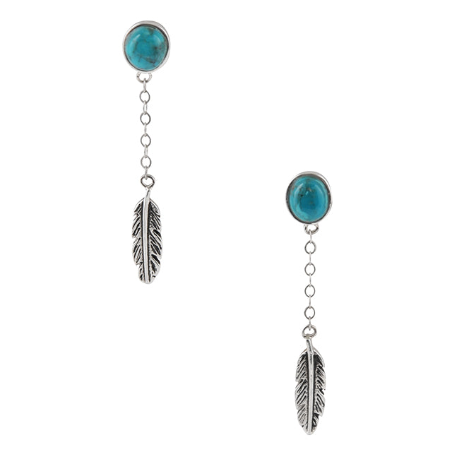 Out of the Blue Quill Earring