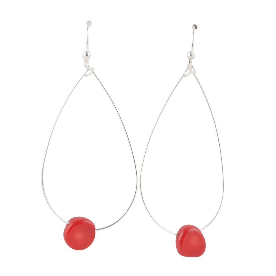 Drop By Anytime Earring-Red Bamboo Coral