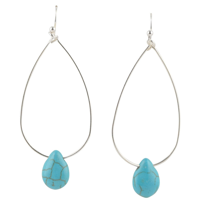 Drop By Anytime Earring-Turquoise Magnesite