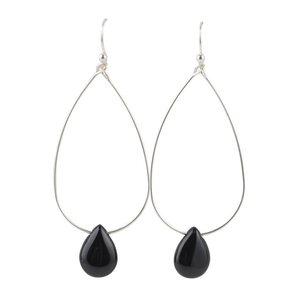 Drop By Anytime Earring-Black Onyx