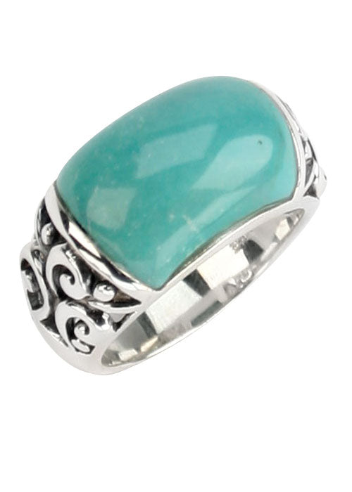 Dreamy Green Turquoise Ring