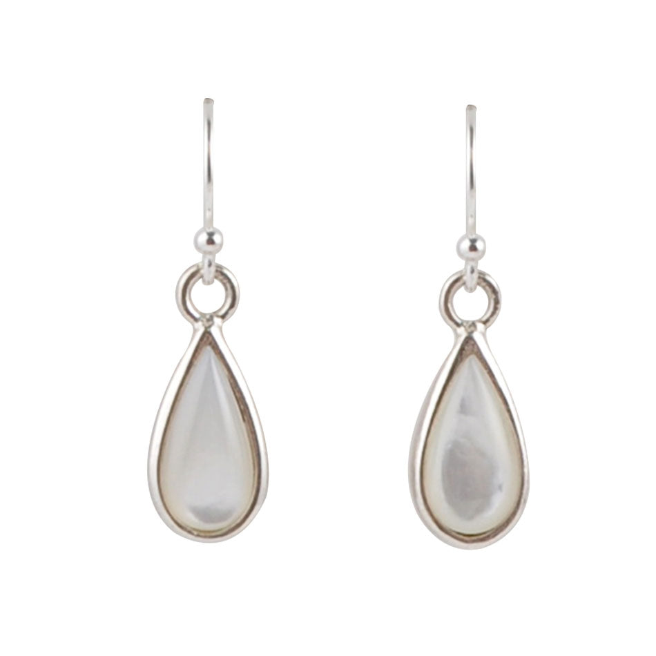 Smooth Sophistication Teardrop Earring-Mother of Pearl
