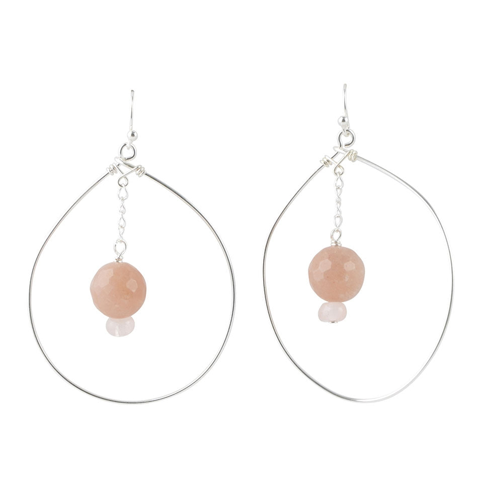 Hypnotic Earring- Rose Quartz & Pink Opal