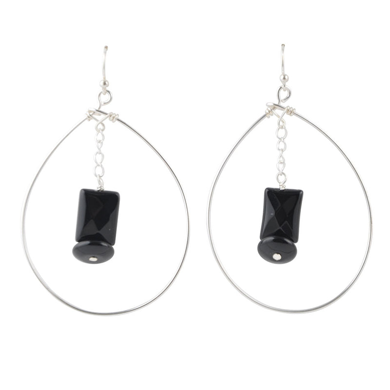 Hypnotic Earring- Black Onyx