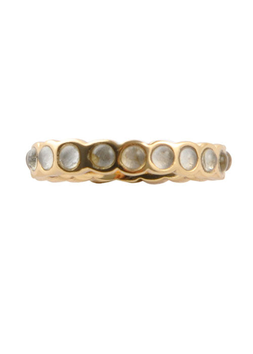Single Crystal Band Stack Ring