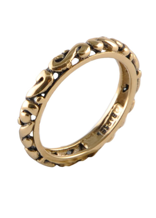 Bronze Swirl Band Ring