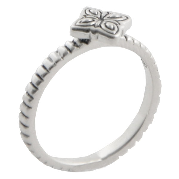 Sterling Silver Clover Stack Ring