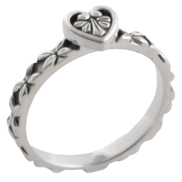 Sterling Silver Heart Stack Ring
