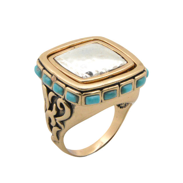 Flip For It Turquoise 2-Way Ring