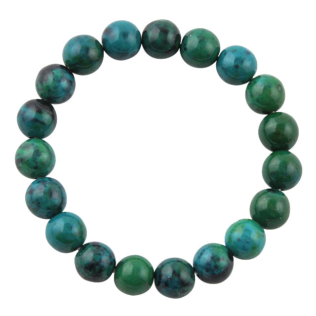 Polished Bead Bracelet-Azurite