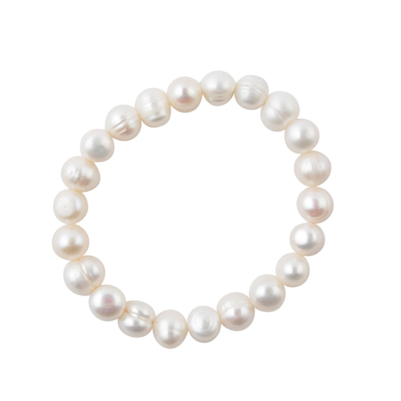 Freshwater Pearl Stretch Bracelet-Medium Pearl