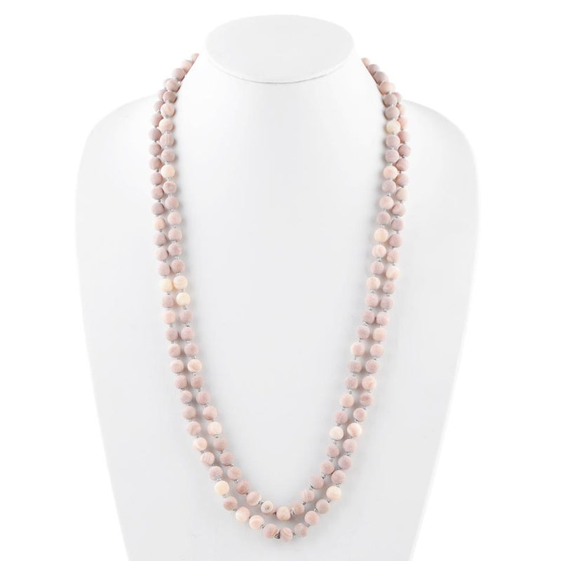 Immeasurable Matte Bead Necklace- Pink Magnesite