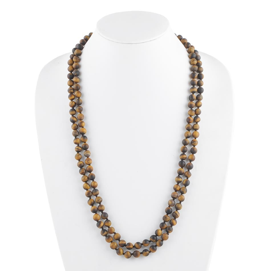 Immeasurable Matte Bead Necklace- Brown Jasper
