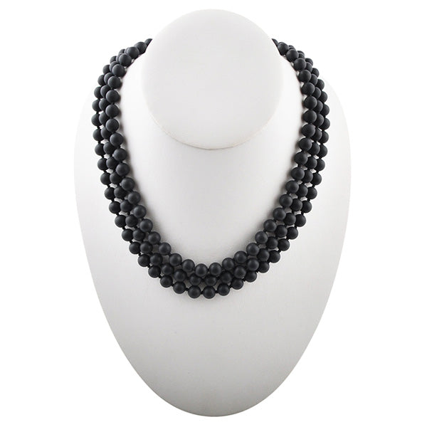 Immeasurable Matte Bead Necklace- Black Onyx