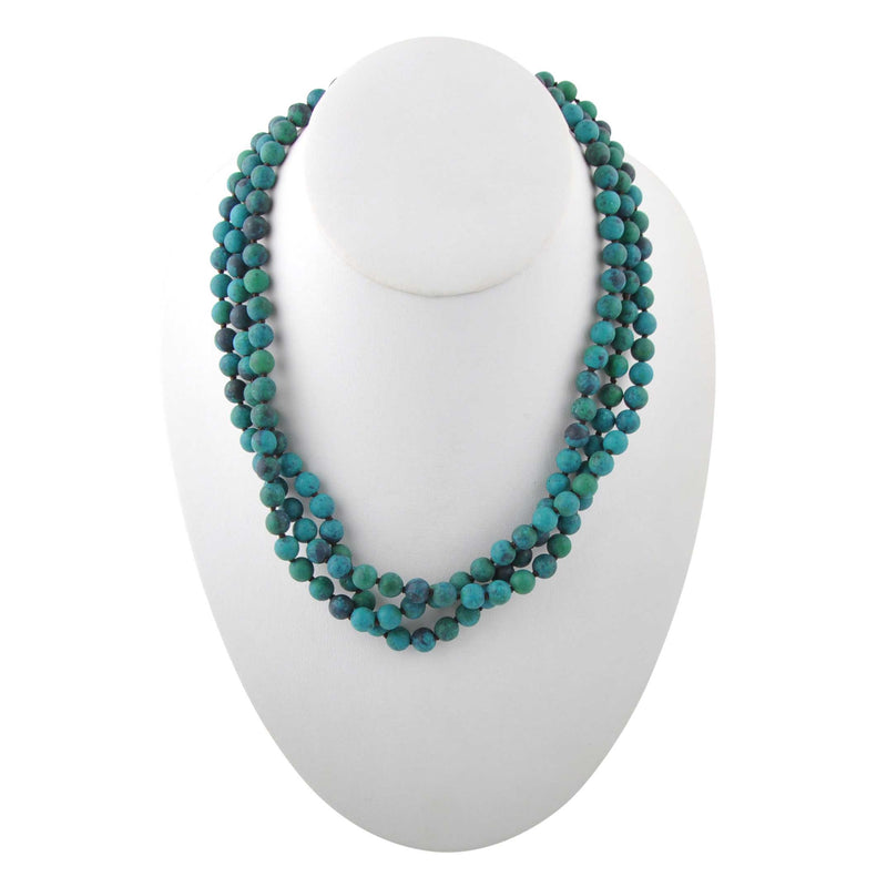 Immeasurable Matte Bead Necklace-Azurite
