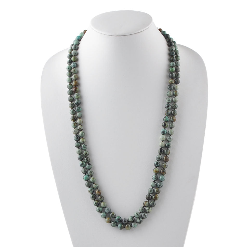 Immeasurable Bead Necklace-African Turquoise