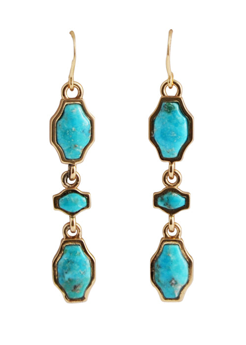 Turquoise Trilogy Earring