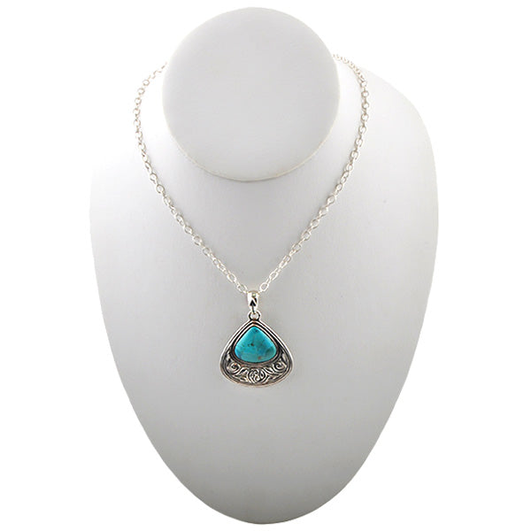 Belle Fleur Turquoise and Silver Necklace
