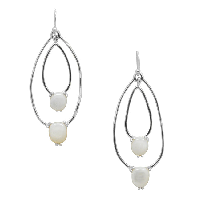 Echo Earring- Mother of Pearl