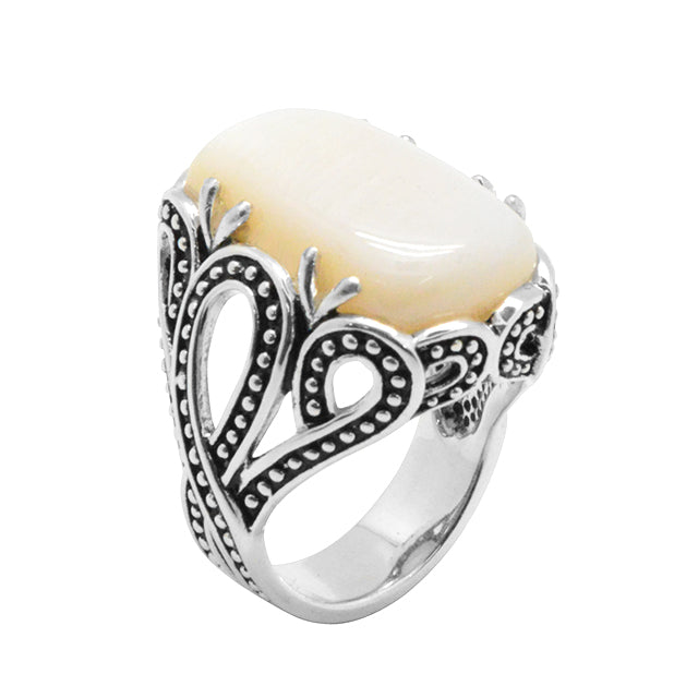 Reliquary Mother of Pearl Ring