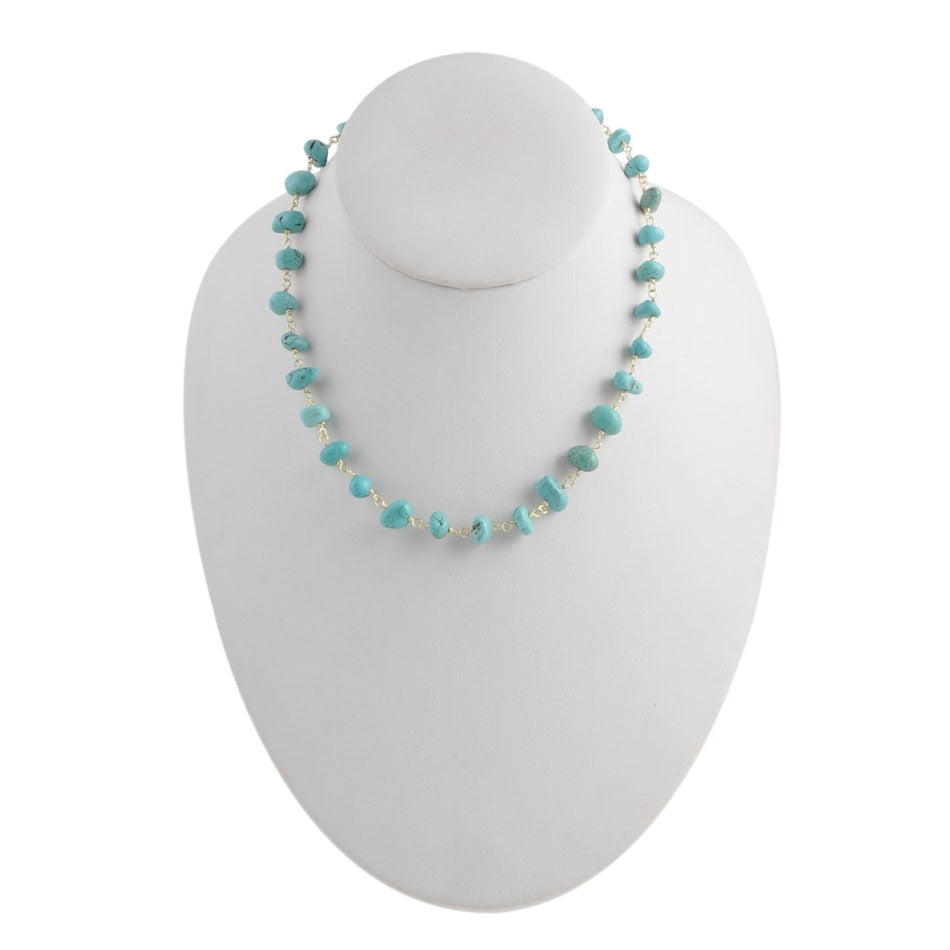 Chip Off The Old Block Turquoise Necklace