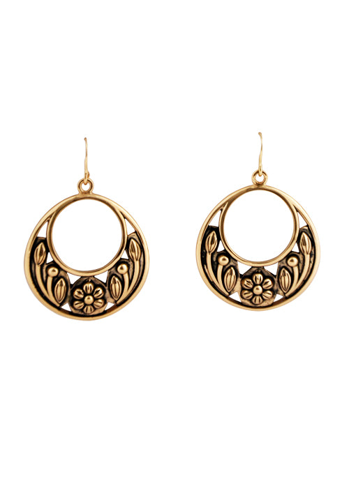 Spring Blooms Bronze Earring