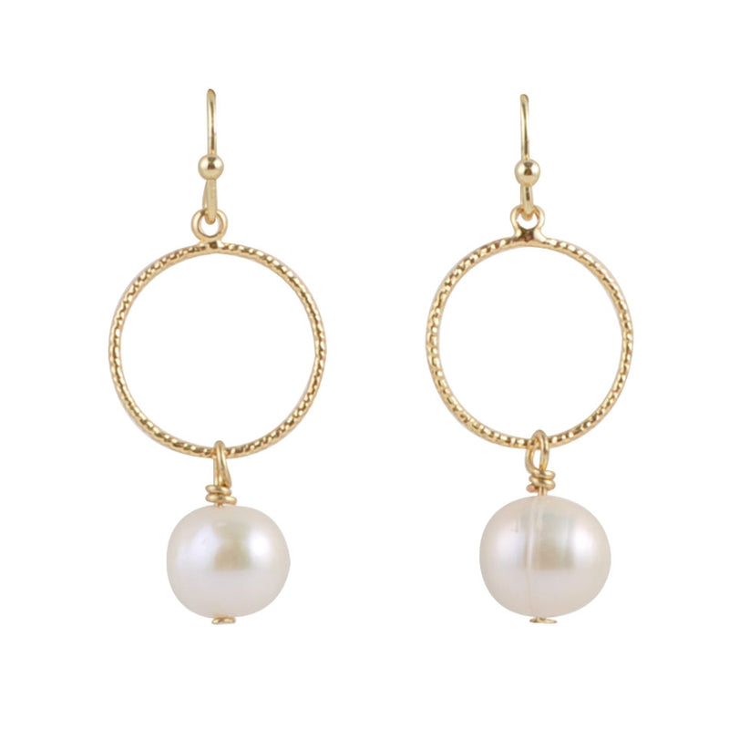 Hoop For Joy Freshwater Pearl Earring