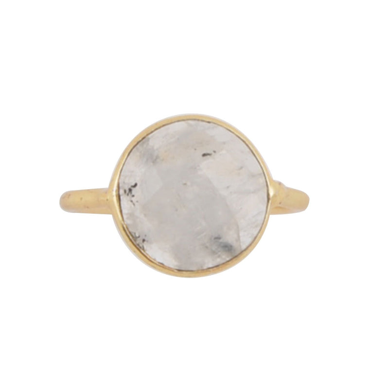 Circle of Love Ring - Moonstone and Bronze