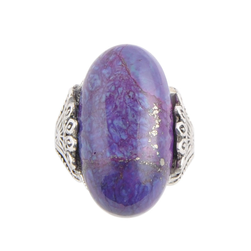 Purple Turquoise Oval Ring