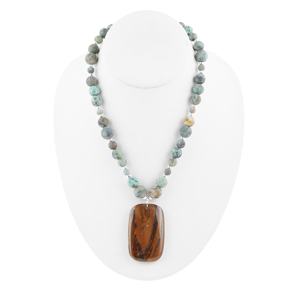 Safari Territory Stone Necklace