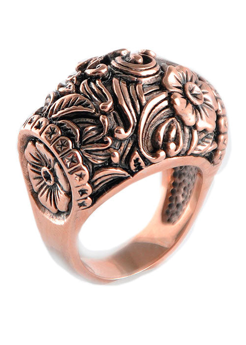 Copper Detail Dome Ring
