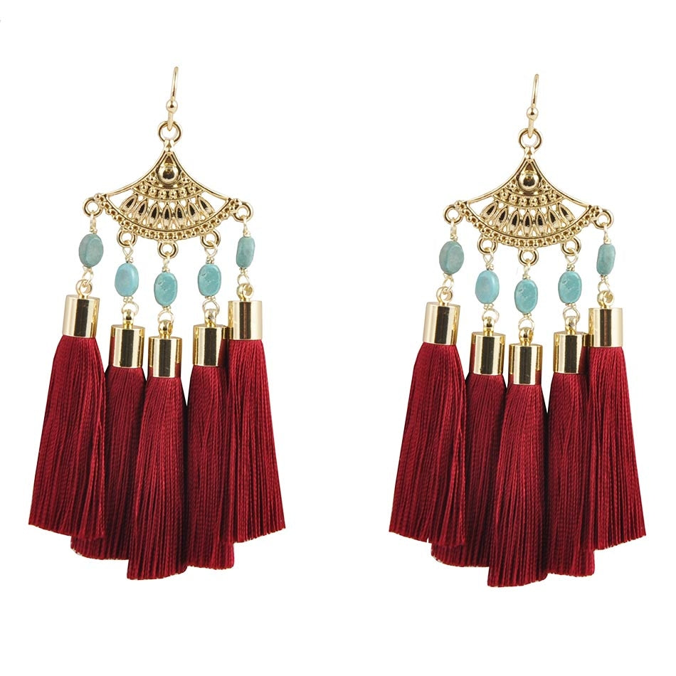 Fan Me Tassel Earring