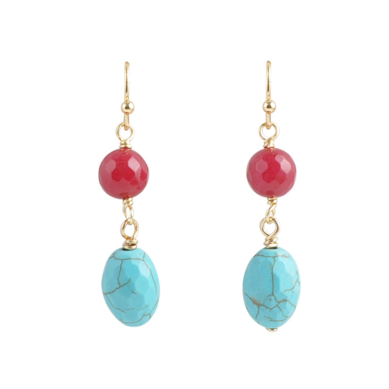 Red and Blue Dance Earring