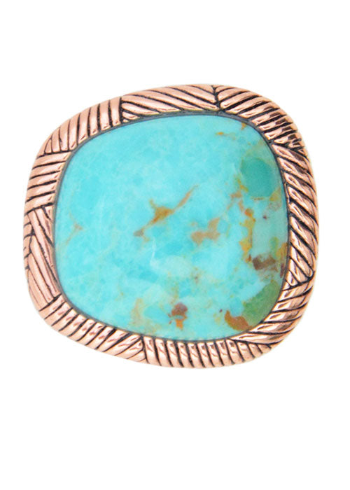Copper Splash Turquoise Ring