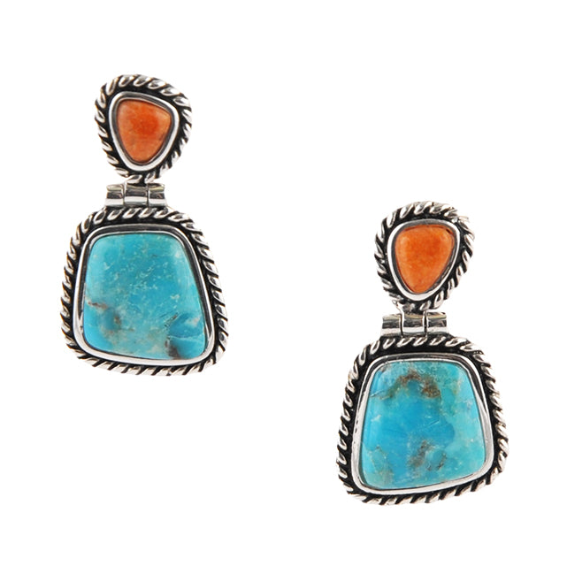 Sedona Turquoise and Coral Earring